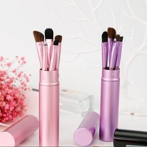Other - NWT 5-Piece Mini Pro Make-up Brush Set in Canister
